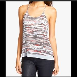 Trouve Racerback Tank In Abstract Print